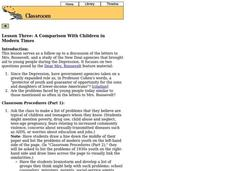 A Comparison With Children in Modern Times Lesson Plan