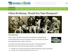 I Have No Money, Would You Take Wampum? Lesson Plan