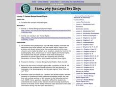 I Know Why the Caged Bird Sings: Human Rights Lesson Plan