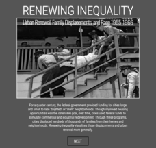 Renewing Inequality: Family Displacements through Urban Renewal 1950-1966 Interactive