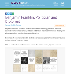 Benjamin Franklin: Politician and Diplomat Interactive