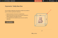 Whole Number Exponents: Teddy Bear Box Interactive
