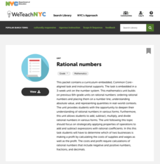 Rational Numbers Lesson Plans & Worksheets | Lesson Planet