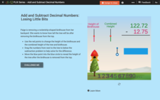 Add and Subtract Decimal Numbers: Losing Little Bits Interactive