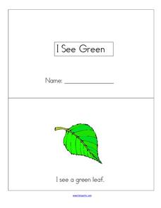 I See Green Worksheet