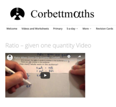 Ratio – Given One Quantity Video