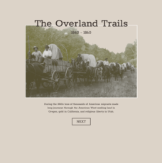 The Overland Trails 1840-1860 Interactive