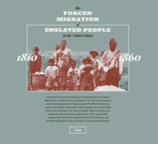 The Forced Migration of Enslaved People 1810-1860 Interactive