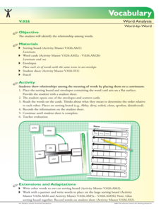 Word Analysis Activities & Project