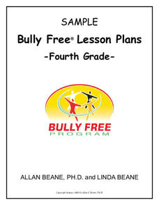 Bully Free Lesson Plans—Fourth Grade Lesson Plan