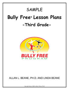 Bully Free Lesson Plans—Third Grade Lesson Plan