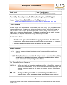 Rolling with Roller Coasters Lesson Plan