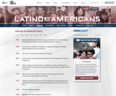 Latino Americans: Timeline of Important Dates Website