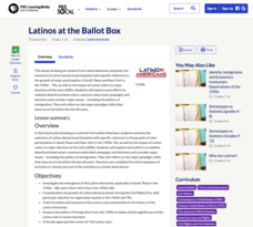 Latinos at the Ballot Box Lesson Plan
