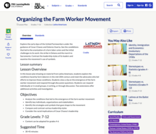 Organizing the Farm Worker Movement Lesson Plan
