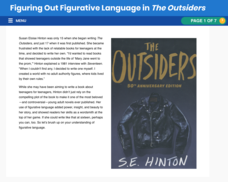 Figuring Out Figurative Language in The Outsiders Interactive