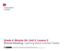 Shared Reading: Learning About Colonial Trades Lesson Plan