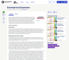 Extranjeros and Expansion Lesson Plan