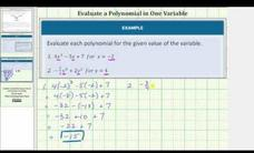 Evaluate a Polynomial in One Variable Video