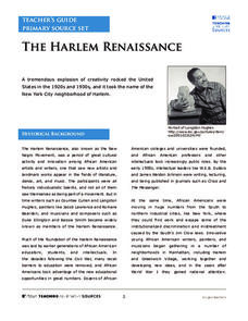 The Harlem Renaissance Activities & Project