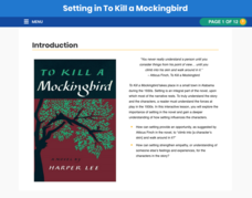 Setting in To Kill a Mockingbird Interactive