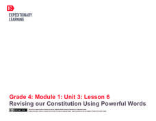 Revising Our Constitution Using Powerful Words Lesson Plan