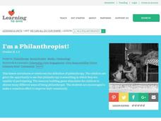 I'm A Philanthropist! Lesson Plan