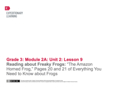 "Reading about Freaky Frogs: ""The Amazon Horned Frog"" Lesson Plan"