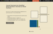 Decimals as Mixed Numbers Interactive