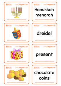 Hanukkah Flashcards Printables & Template