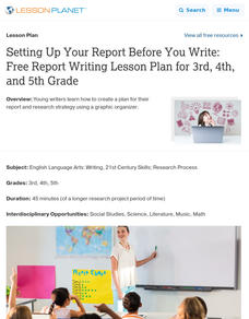 Setting Up Your Report Before You Write Lesson Plan