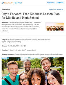 Pay it Forward Lesson Plan