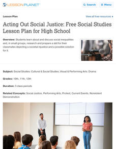 Acting Out Social Justice Lesson Plan