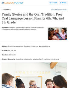 Family Stories and the Oral Tradition Lesson Plan