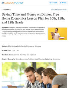 Saving Time and Money on Dinner Lesson Plan