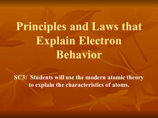 Principles and Laws That Explain Electron Behavior Presentation