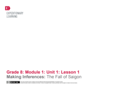 Making Inferences: The Fall of Saigon Lesson Plan
