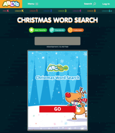 Christmas Word Search Interactive