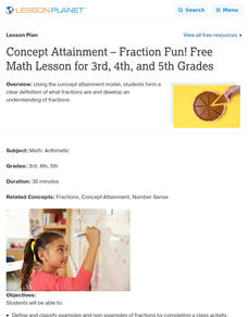 Concept Attainment – Fraction Fun! Lesson Plan