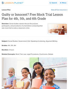 Guilty or Innocent? Lesson Plan
