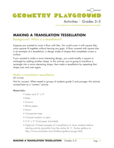 Making a Translation Tesselation Activities & Project