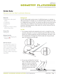 Stride Ruler Activities & Project