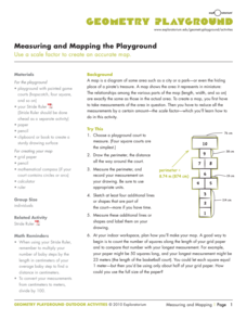 Measuring and Mapping the Playground Activities & Project