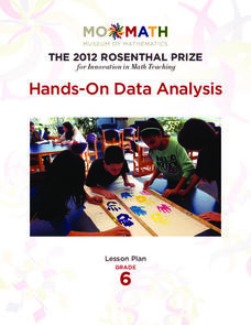 Hands-On Data Analysis Lesson Plan
