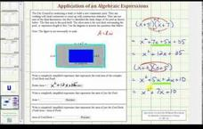 Find a Polynomial Expression for Area of Rectangles - Pool Application (Example) Video