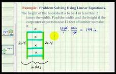 Find the Dimensions of a Bookcase Using a Linear Equation (Example) Video