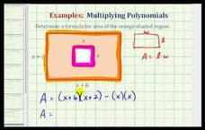 Determine the Area of a Shaded Region Using a Polynomial (Example) Video