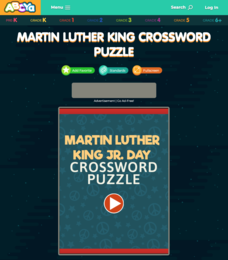 Martin Luther King Crossword Puzzle Interactive