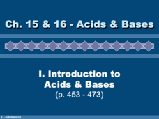 Acid and Bases: Introduction Presentation