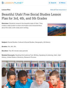Beautiful Utah! Lesson Plan